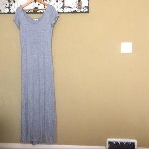 Heather Grey Maxi Dress